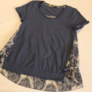 Anthropologie little yellow button top size xs